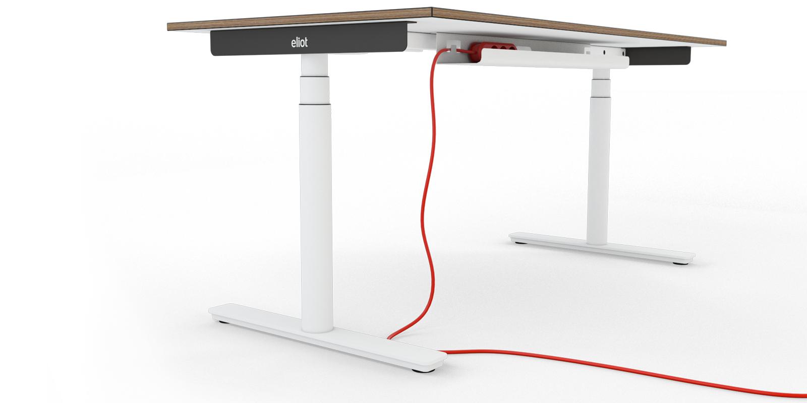 Höhenverstellbare Schreibtische Und Kabelmanagement Smartfurniture